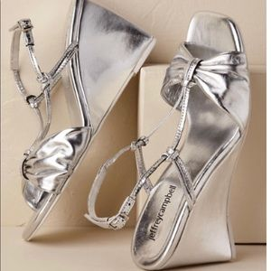 Jeffrey Campbell Silver Wedge